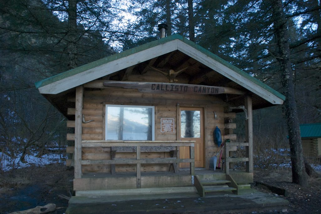 The popular Callisto Canyon Cabin at Caine's Head.